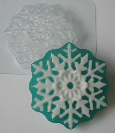 Снежинка # 2 форма для мыла