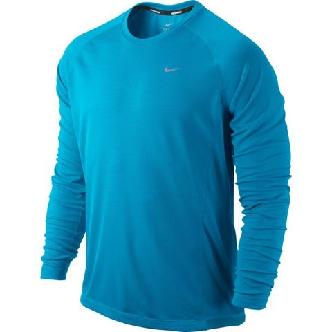 Футболка Nike Miler LS UV Top /Рубашка беговая голубая