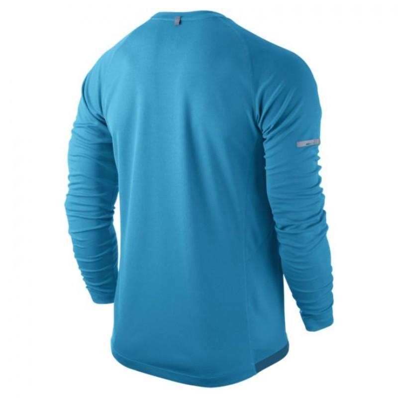 Мужская беговая футболка Nike Miler LS UV Top (519700 418) фото