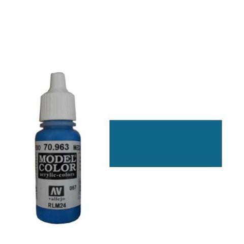 057. Краска Model Color Синий Cредний 963 (Medium Blue) укрывистый, 17мл