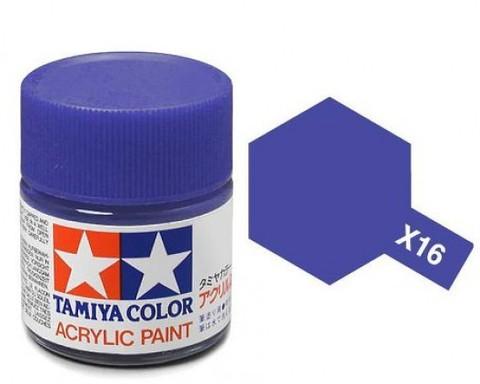 X-16 Краска Tamiya, Фиолетовый Глянцевый (Purple), акрил 10мл