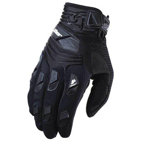 Мотоперчатки - THOR DEFLECTOR (черные)