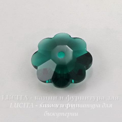 """3700 Бусина - рондель Сваровски """"Цветочек"""" Emerald 10 мм ()"""