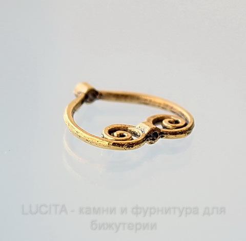 """Рамка для бусины """"Сердце"""" (цвет-  античное золото)  20х20 мм ()"""