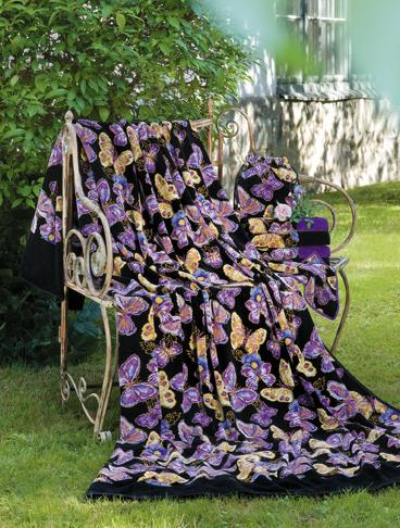 Декоративные подушки Наволочка 50х70 Feiler Mariposa 54 lila elitnaya-navolochka-dekorativnaya-shenillovaya-mariposa-54-lila-ot-feiler-germaniya.jpg
