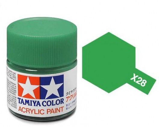 X-28 Краска Tamiya, Травянисто-зеленый (Park Green), акрил 10мл