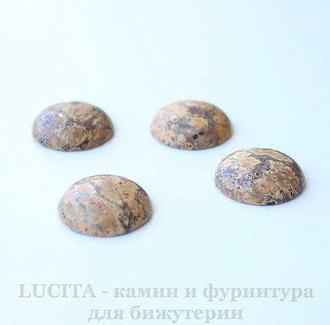Кабошон круглый Яшма Шкура леопарда, 20 мм