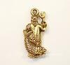 """Подвеска Quest Beads """"Нептун"""" (цвет-античное золото) 24х11 мм"""
