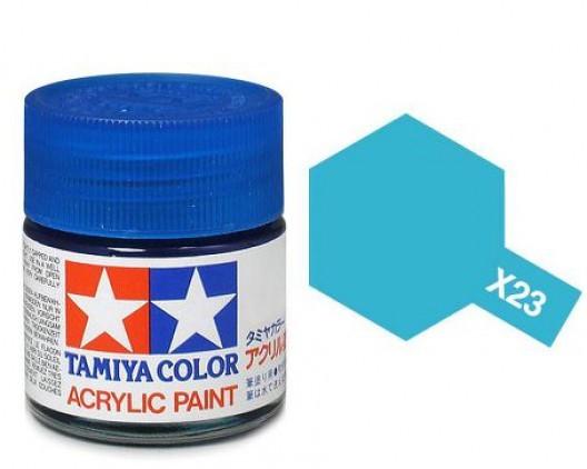 X-23 Краска Tamiya, Прозрачный Синий (Clear Blue), акрил 10мл