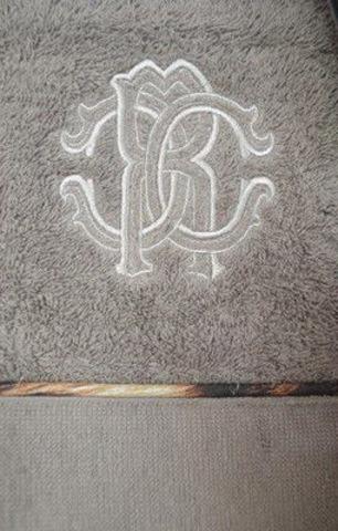 Элитный халат-кимоно махровый Basic серый от Roberto Cavalli