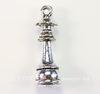 """Подвеска Quest Beads в виде шахматной фигуры """"Ферзь"""" 3D (цвет-античное серебро) 23х7 мм"""