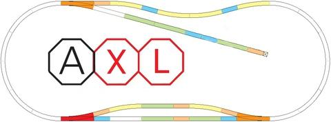 Набор отдельных рельсов AXL, PIKO, 1:87