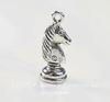 """Подвеска Quest Beads в виде шахматной фигуры """"Конь"""" 3D (цвет-античное серебро) 21х8 мм"""