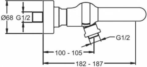 Jacob Delafon Singulier cмеситель настенный для ванны E10867-CP