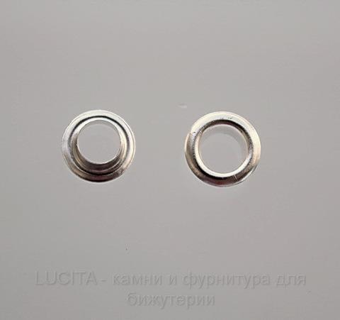 Сердцевина для бусины (цвет - серебро) 8х3,5 мм , 5 пар ()