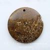 Подвеска круглая Яшма цвет- коричневый 40,1х6,7 мм ()
