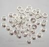 Сердцевина для бусины (цвет - серебро) 10х4,5 мм , 5 пар ()