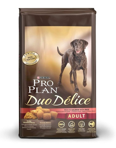 Pro plan duo delice adult with salmon & rice dog