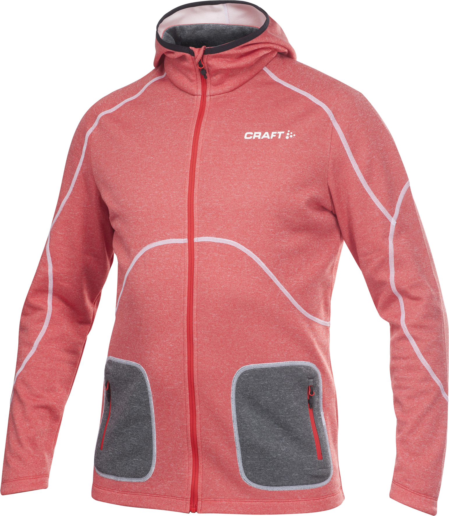 1901680-2428 Толстовка Craft Active Hood Zip red мужская