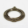 """Сеттинг - основа - подвеска """"Египет"""" для камеи или кабошона 20х15 мм (оксид латуни) ()"""