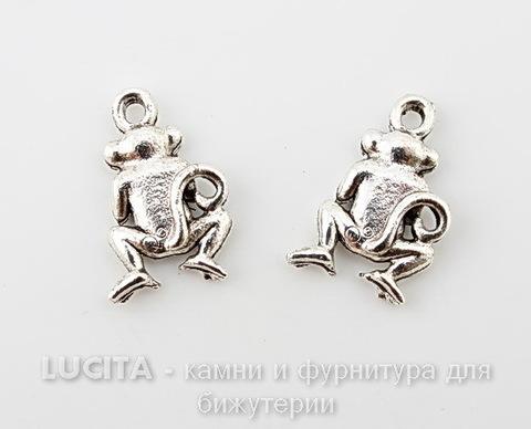 """Подвеска Quest Beads """"Ничего не вижу"""" (цвет-античное серебро) 19х12 мм"""