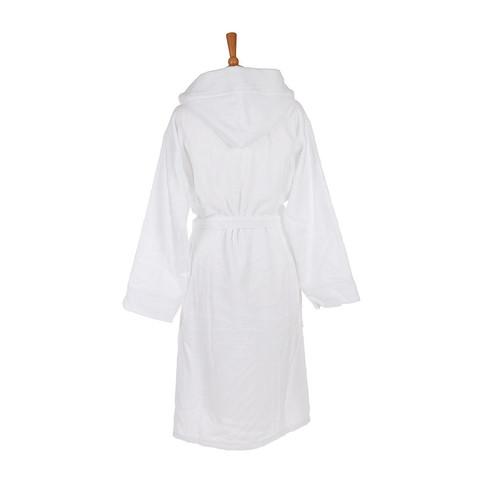Элитный халат велюровый Zebrona с капюшоном белый от Roberto Cavalli
