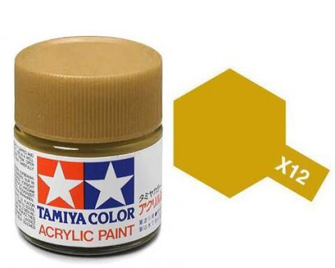 X-12 Краска Tamiya, Сусальное Золото Глянцевый (Gold Leaf), акрил 10мл
