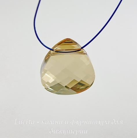 6012 Подвеска Сваровски Flat Briolette Crystal Golden Shadow (15,4x14 мм) ()