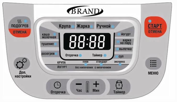 Дисплей мультиварки Brand 502