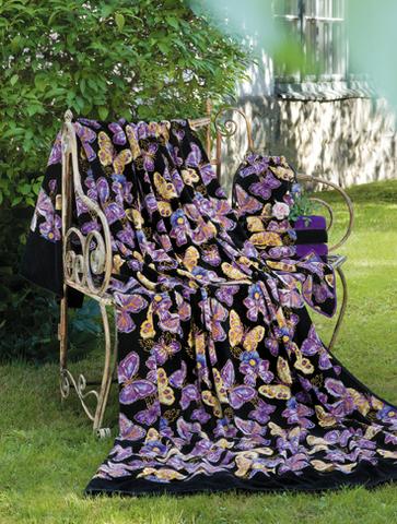 Элитная наволочка декоративная шенилловая Mariposa 10 schwarz от Feiler