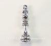 """Подвеска Quest Beads в виде шахматной фигуры """"Король"""" 3D (цвет-античное серебро) 28х8 мм"""