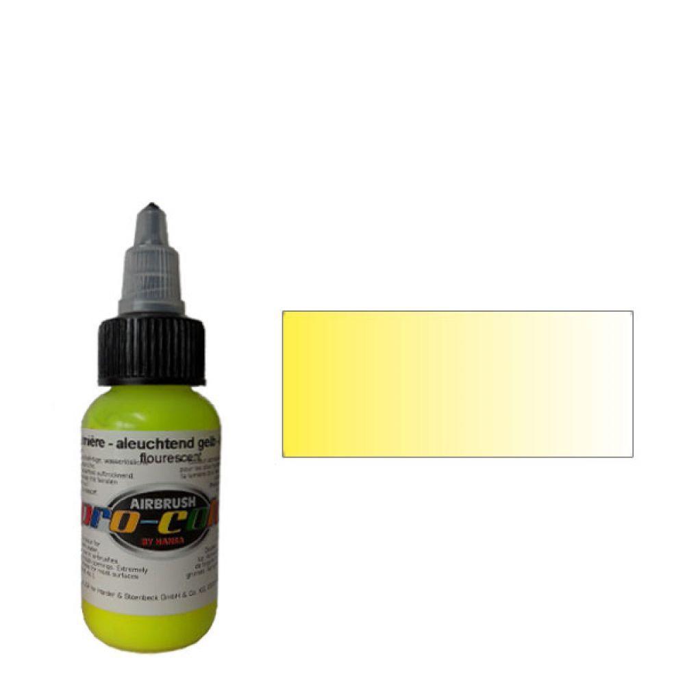 62053 Краска для аэрографии Pro-Color Bright Yellow (ЖЕЛТЫЙ) 30мл. флуорисцентный