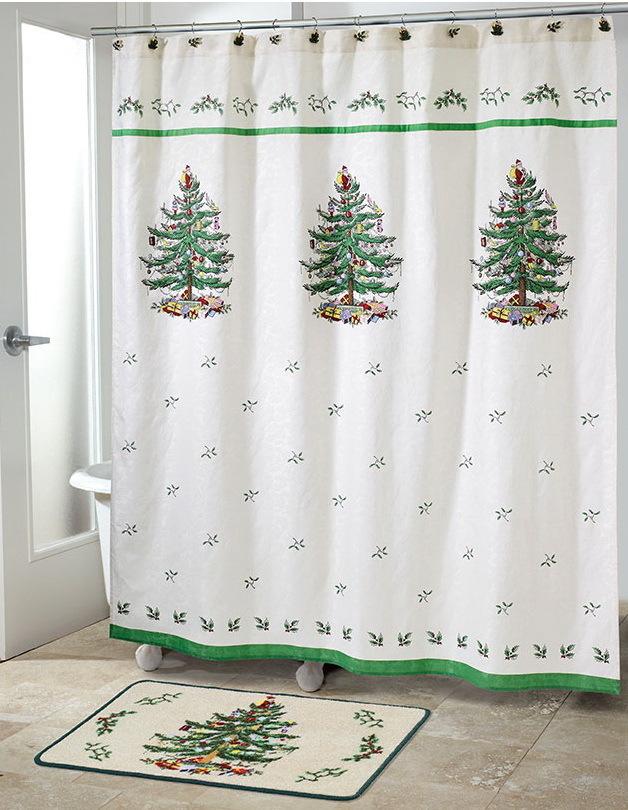 Шторки Шторка для ванной 183x183 Avanti Spode Christmas Tree elitnaya-shtorka-dlya-vannoy-spode-christmas-tree-ot-avanti-ssha-kitay.jpg