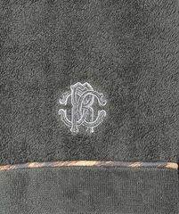 Халат махровый Roberto Cavalli Basic с капюшоном темно-серый