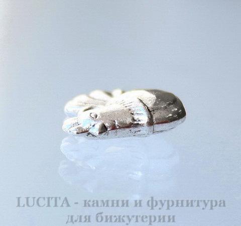 "Подвеска ""Курочка"" 13х12 мм (цвет - античное серебро)"