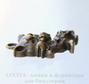 "Подвеска ""Котенок"" (цвет - античная бронза) 23х16 мм"