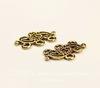 """Коннектор Quest Beads """"Волна"""" (1-3) 20х14 мм (цвет-античное золото)"""