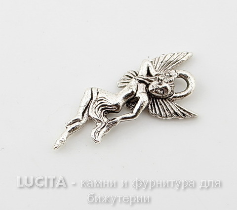 """Подвеска Quest Beads """"Фея воды"""" (цвет-античное серебро) 22х10 мм"""