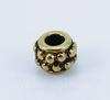 Бусина металлическая (цвет - античное золото) 7х4 мм , 10 штук
