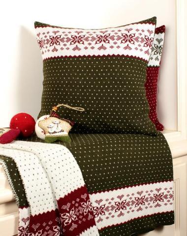 Наволочка декоративная 45х45 Luxberry Norway зелёная