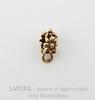 """Бейл Quest Beads """"Цветочный"""" (цвет-античное золото) 12х5 мм"""