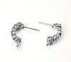 """Пуссеты - гвоздики Quest Beads """"Крученые"""" 18х5 мм (цвет-античное серебро)(без заглушек), пара"""