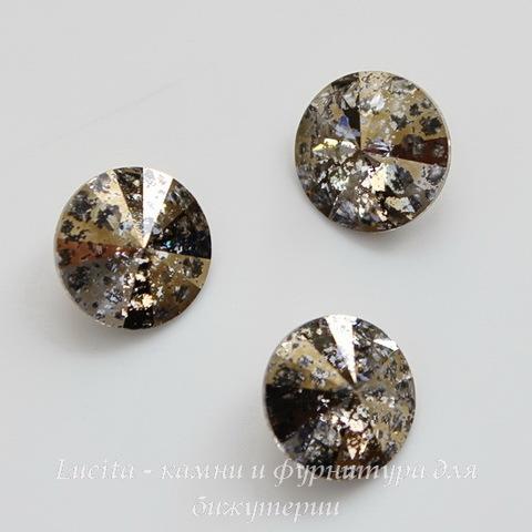 1122 Rivoli Ювелирные стразы Сваровски Crystal Gold Patina (SS39) 8,16-8,41 мм