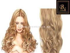 Вьющиеся волосы #18-613,Мелированные волосы 52 CM