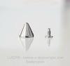 Шип винтовой из 2х частей (цвет - античное серебро) 12х11 мм,8х7 мм