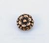 """Бусина металлическая """"Цветочек"""" (цвет - античная медь) 7х3 мм, 10 штук"""