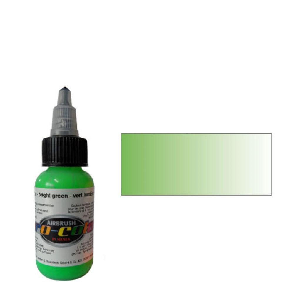 62052 Краска для аэрографии Pro-Color Bright Green (ЗЕЛЕНЫЙ) 30мл. флуорисцентный