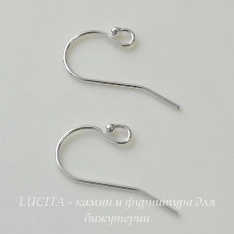 Швензы - крючки с шариком, 21х11 мм (цвет - серебро), Silver filled, пара ()