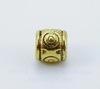 """Бусина металлическая """"Кружочки"""" (цвет - античное золото) 6х6 мм , 10 штук"""