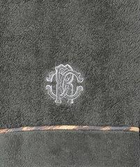 Элитный халат-кимоно махровый Basic тесно-серый от Roberto Cavalli